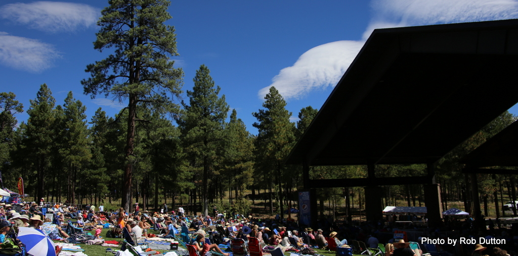 Picking' in the Pines Flagstaff Arizona main stage trees