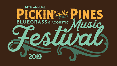 Pickin' in the Pines Bluegrass & Acoustic Music Festival | September 13-15, 2019 Logo